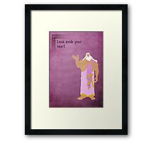 Hercules inspired design (Zeus). Framed Print