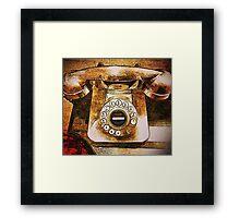 Vintage Telephone Framed Print