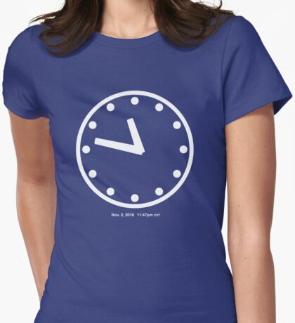 11:47pm CST Womens Fitted T-Shirt