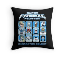 Super Freeze Fighter Throw Pillow