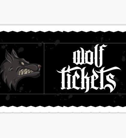 Wolf Tickets Sticker