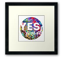 Yes, And. Framed Print