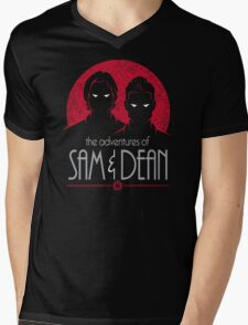 The Adventures of Sam and Dean Mens V-Neck T-Shirt
