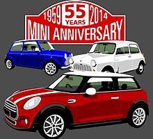 Mini 55th anniversary  by car2oonz