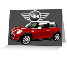 2014 Mini Cooper red Greeting Card