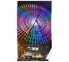 Rainbow Ferris Wheel Osaka Poster