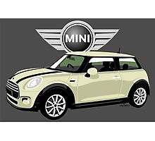 2014 Mini Cooper white Photographic Print