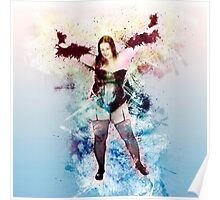 showgirl in lingerie and stockings  Poster