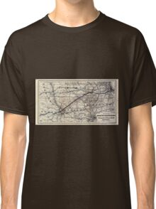 0230 Railroad Maps Map of the Chicago and Southwestern Railway and the Chicago Rock Island Pacific Railroad and their Classic T-Shirt