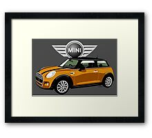 2014 Mini Cooper orange Framed Print