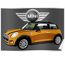 2014 Mini Cooper orange Poster