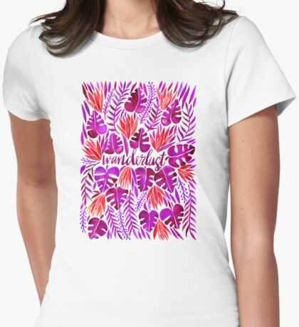 Tropical Wanderlust – Magenta Palette Womens Fitted T-Shirt