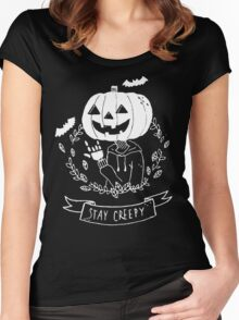 Stay Creepy! Women's Fitted Scoop T-Shirt