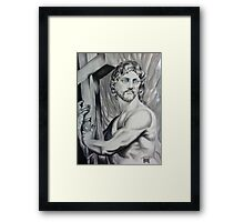 Stone Jesus Framed Print