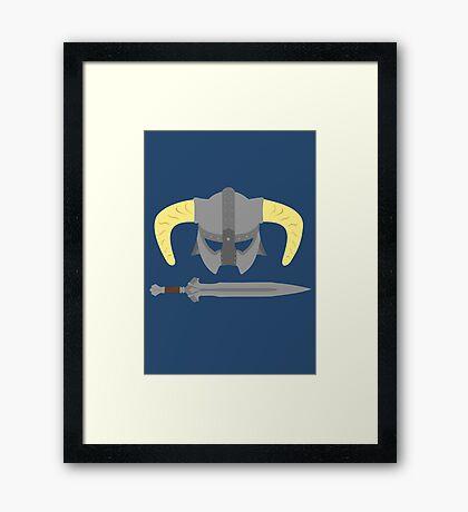 Iron helmet & imperial sword Framed Print