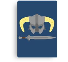 Iron helmet & imperial sword Canvas Print