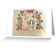 I Hate Everything Greeting Card