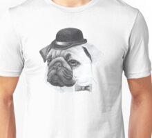 Pug with bowler Unisex T-Shirt
