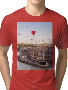 Balloons over the SS Great Britain in Bristol Tri-blend T-Shirt