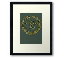 Five Centuries of Verse (Ochre) Framed Print