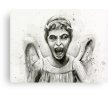 Weeping Angel Watercolor - Doctor Who Fan Art Canvas Print