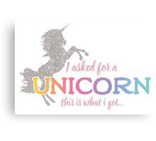 I wanted a Unicorn Canvas Print