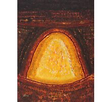 Pueblo Kiva Fireplace original painting Photographic Print