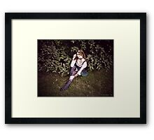 Lillian in Wonderland Framed Print