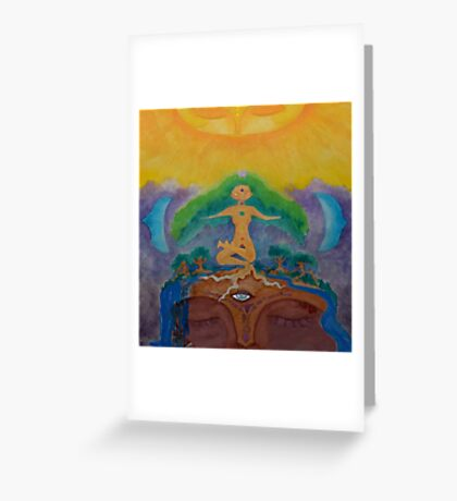 Earth Spirits Rising Greeting Card