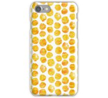 Goldenrod Watercolor Dots iPhone Case/Skin