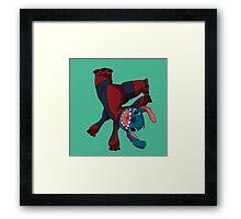 Spider Stitch Framed Print