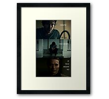 I Know This Hurts Framed Print