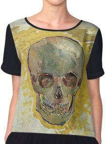 Vincent Van Gogh - Skull 2. portrait skull: skeletal, skeleton, smoking, teeth, mouth, skull, remains, ash, head, fantasy , death Chiffon Top
