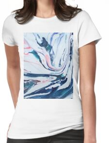 pastel swirl Womens Fitted T-Shirt