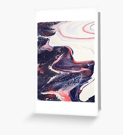 Pastel swirl 2 Greeting Card
