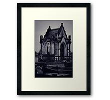 Gothic Crypt. Framed Print