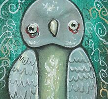 Zombie Owl by bevmostic