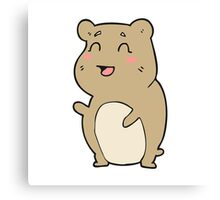 cartoon cute hamster Canvas Print