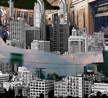Mix of City Maps Sticker