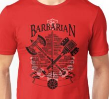 RPG Class Series: Barbarian - Black Version Unisex T-Shirt
