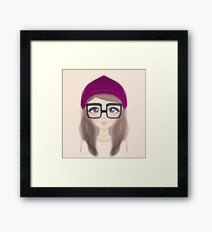 pretty girl  Framed Print
