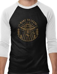 I Want To Leave Men's Baseball ¾ T-Shirt