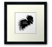 Death is Coming Framed Print