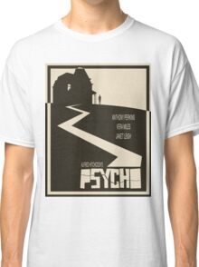 Psycho Movie Poster - Beige Version Classic T-Shirt