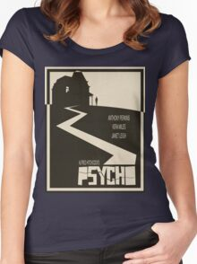 Psycho Movie Poster - Beige Version Women's Fitted Scoop T-Shirt