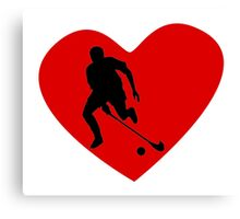 Field Hockey Player Heart Canvas Print