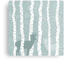 Deer in wood2 Metal Print