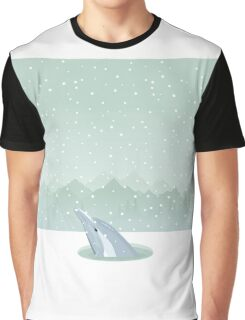 Dolphin in an ice-hole Graphic T-Shirt