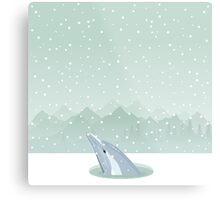 Dolphin in an ice-hole Metal Print