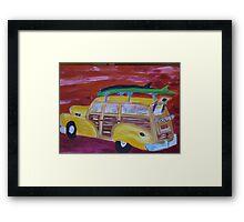 woodie wagon  Framed Print